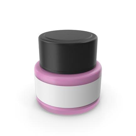 Cosmetic Cream Bottle Pink
