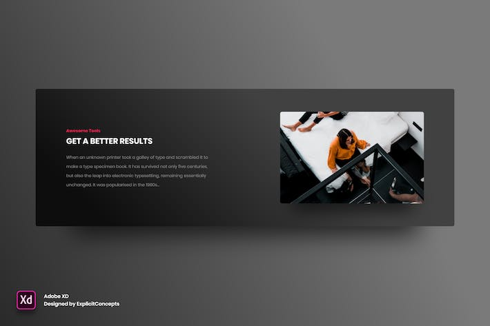 Thumbnail for Split Content Section - Adobe XD