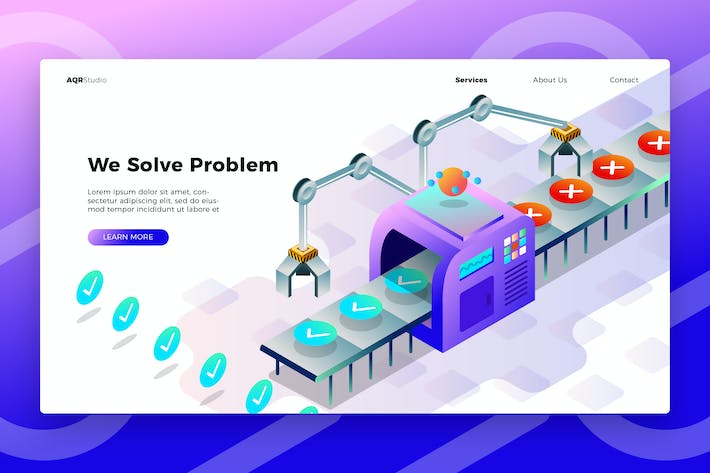 Cover Image For Problem Fixer - Banner & Landing Page