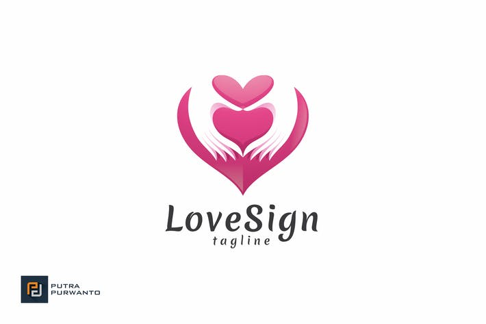 Thumbnail for Love Sign - Logo Template