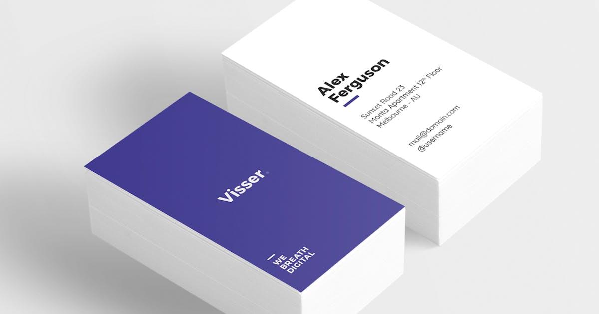 Download Visser Minimal Business Card by micromove