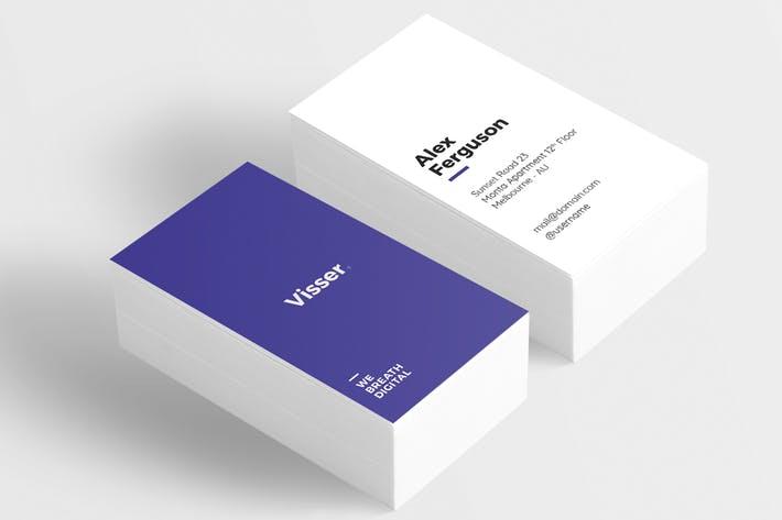 cover image for visser minimal business card - Minimal Business Card