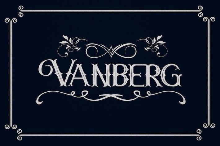 Thumbnail for Vanberg Blackletter Fuente