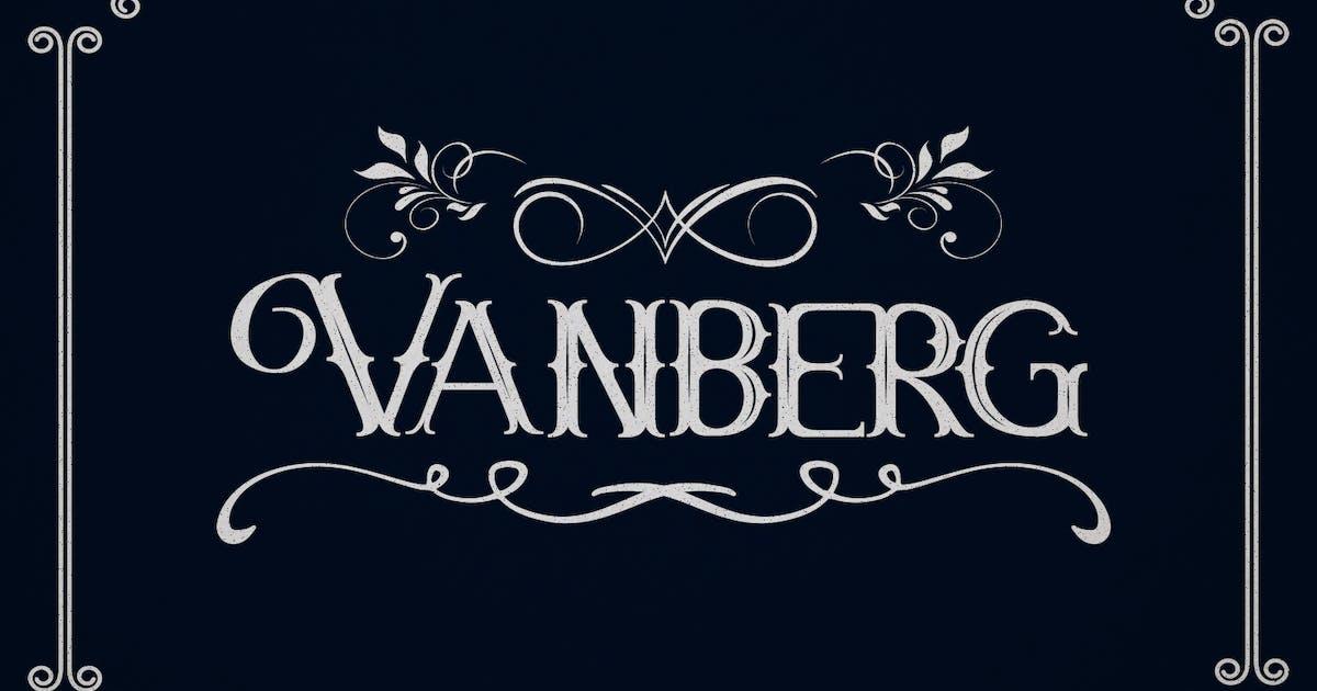 Download Vanberg Blackletter Font by maulanacreative