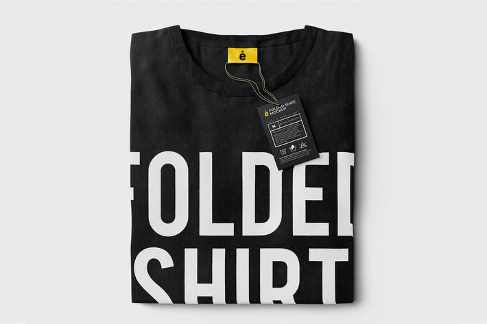 Cover Image For Folded T-Shirt Mockup Template