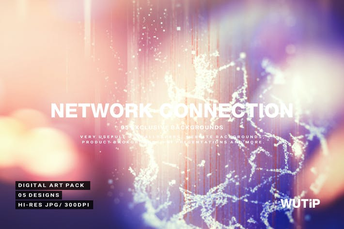 Thumbnail for Arrière-plan de connexion réseau abstraite