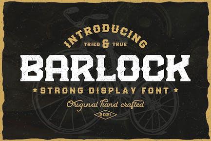 Barlock - Strong Display Font