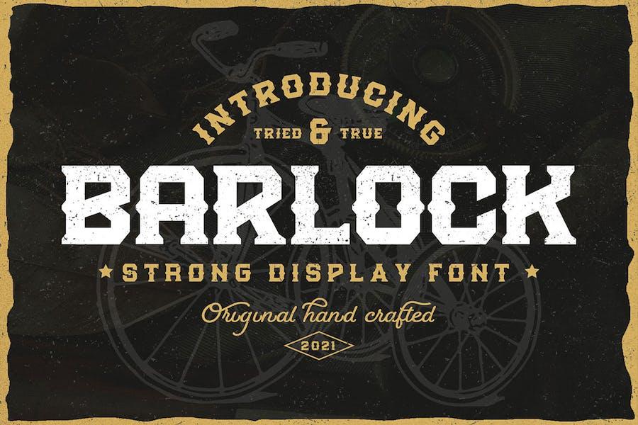 Barlock - Fuente de visualización fuerte