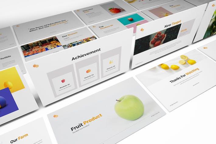 Шаблон Powerpoint для хранения фруктов