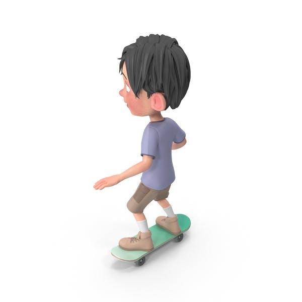 Мультфильм мальчик Джек езда скейтборд