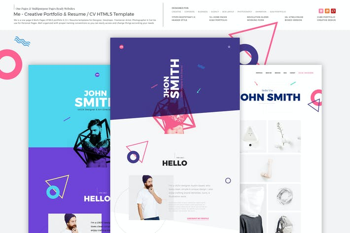 Thumbnail for Me - Creative Portfolio & Resume/CV HTML Template