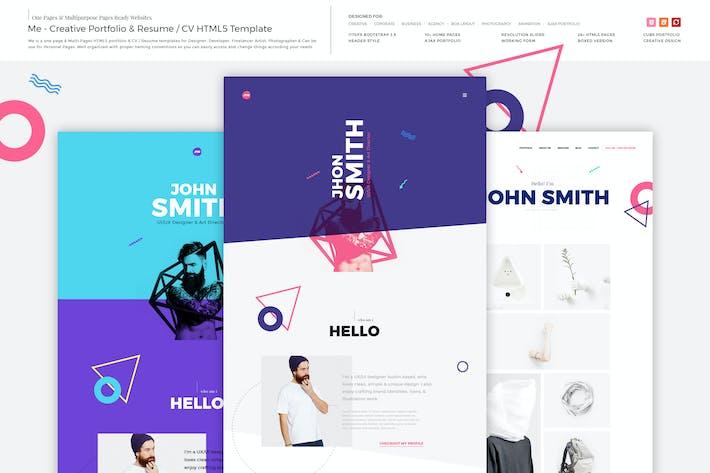 Cover Image For Me - Creative Portfolio & Resume/CV HTML Template
