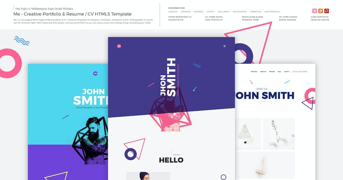 Download Me - Creative Portfolio & Resume/CV HTML Template by M_Adnan