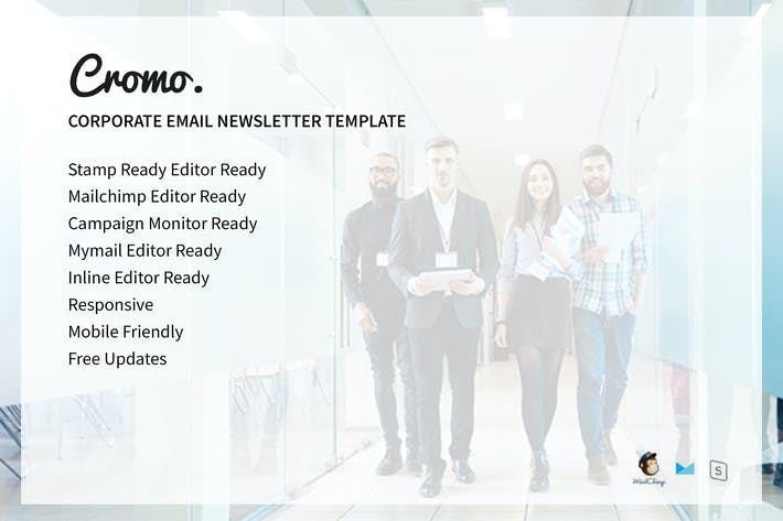 Thumbnail for Cromo Corporate Email Newsletter Template