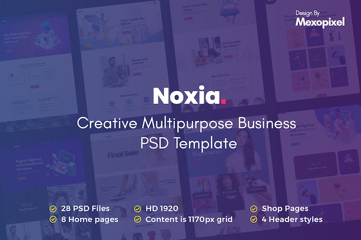 Thumbnail for Noxia - Creative Multipurpose Business Template