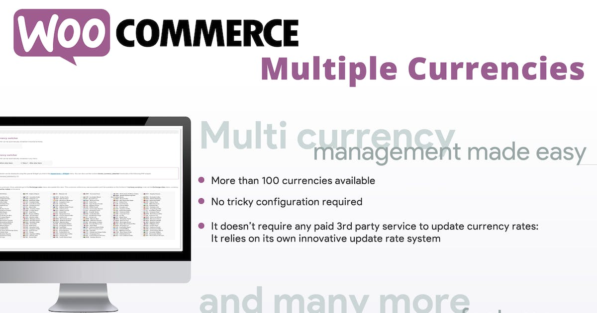 Download WooCommerce Multiple Currencies by vanquish