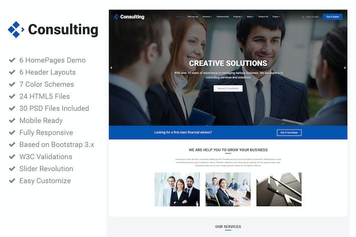 Thumbnail for Consulting - Broker Advisor Finance HTML5 Template
