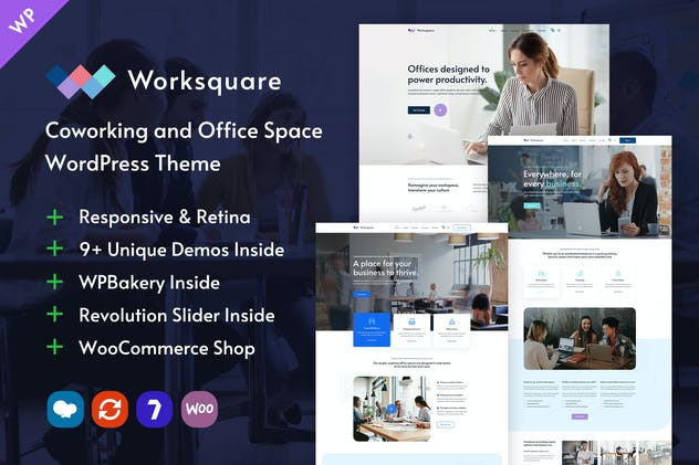 Worksquare - Coworking and Office Space WordPress