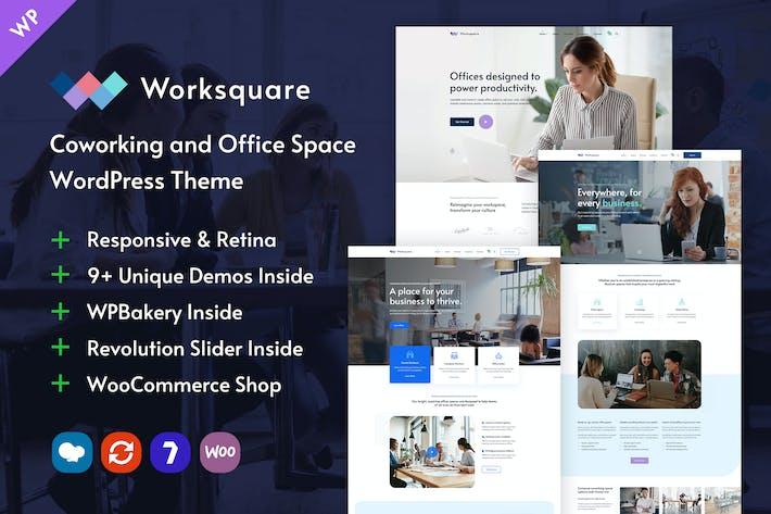 Worksquare - Coworking und Bürofläche WordPress