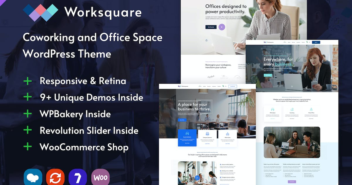 Download Worksquare - Coworking and Office Space WordPress by ninzio
