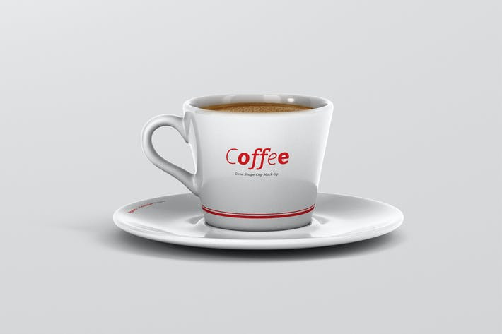 Thumbnail for Coffee Cup Mockup - Cone Shape