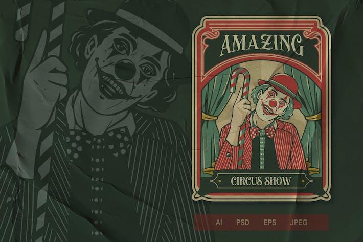 Thumbnail for Vintage Emblem - Circus V1