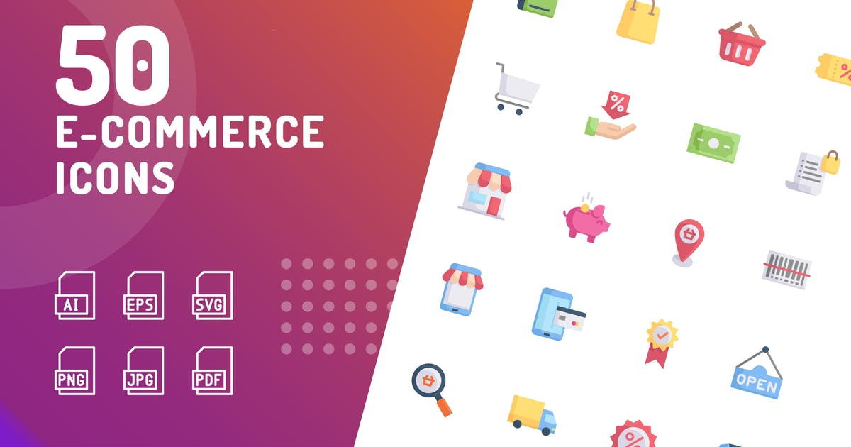 Download Ecommerce Flat Icons by kerismaker