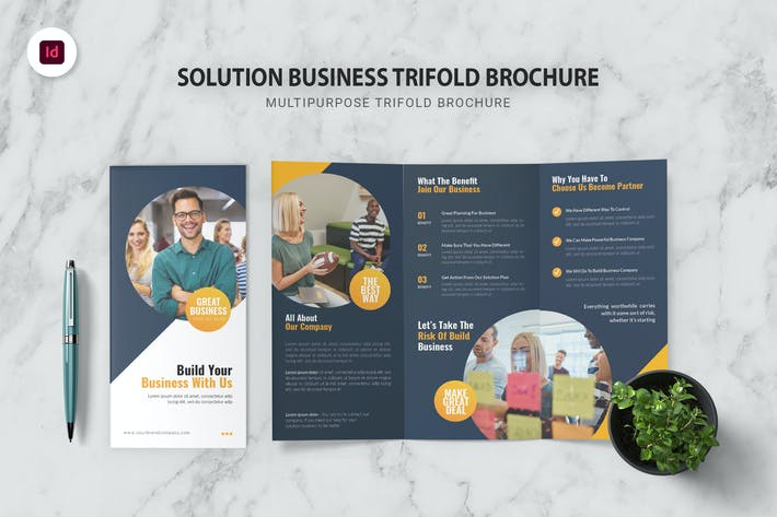 Thumbnail for Solution Business Trifold Brochure