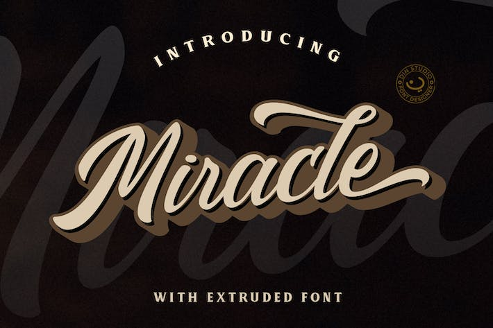 Thumbnail for Miracle - Layered Script Font