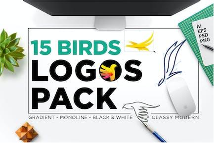 15 BIRDS LOGO PACK