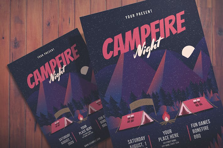 Thumbnail for Campfire Night Event - Flyer Template