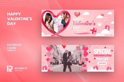 Valentine's R1 Facebook Cover Template