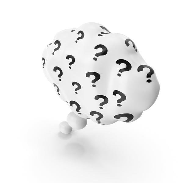 Burbuja de pensamiento con signo de interrogación