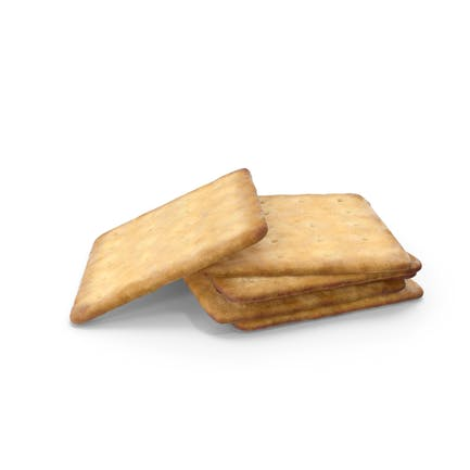 Small Pile of Square Crackers