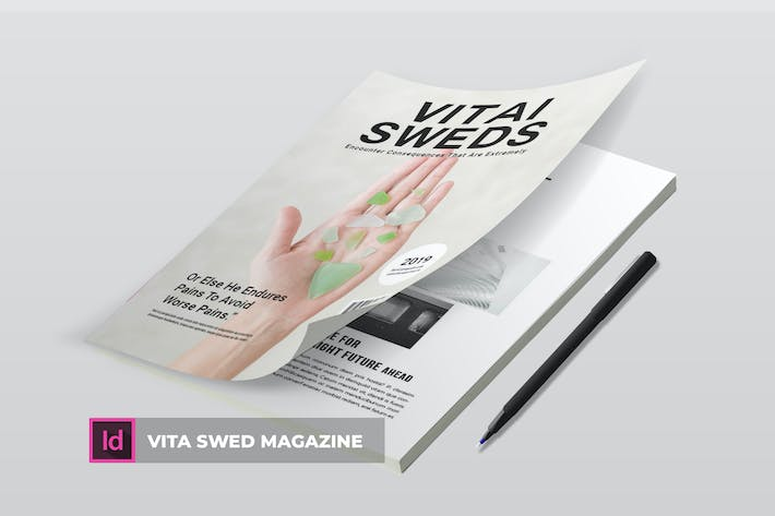 Thumbnail for Vita Swed | Magazine Template