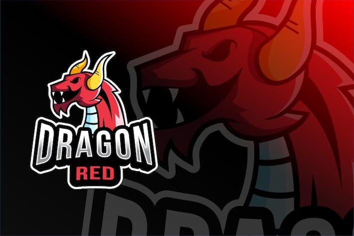 Thumbnail for Dragon Red Esport Logo Template