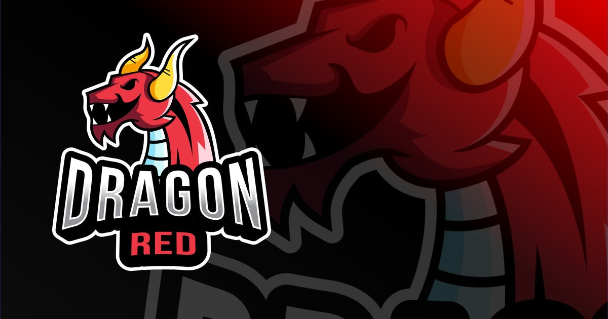Download Dragon Red Esport Logo Template by IanMikraz