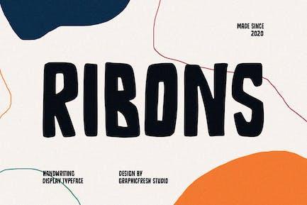 Ribons - A Handwriting Display Font