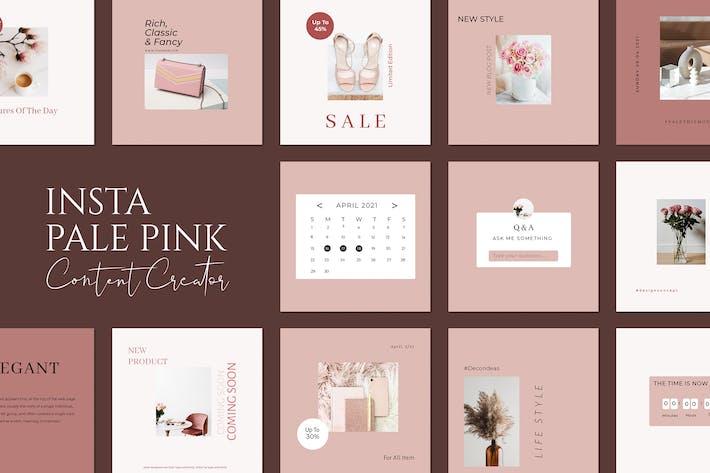 Pale Pink Insta Creator
