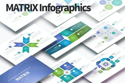 MATRIX - PowerPoint Infografiken Folien