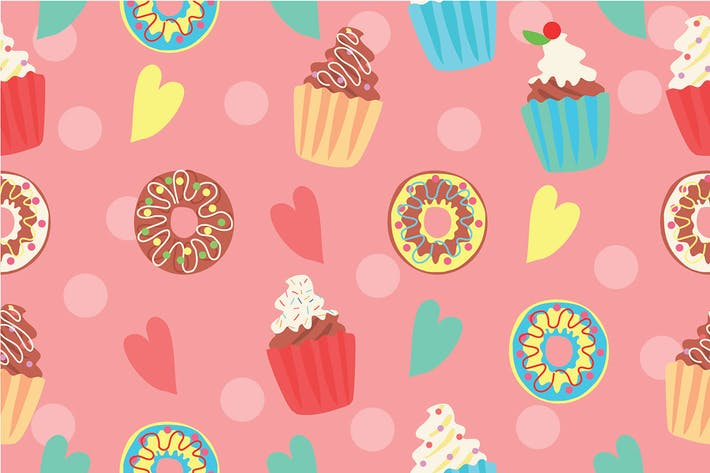 Thumbnail for Cupcake Pattern - Vector Illustration