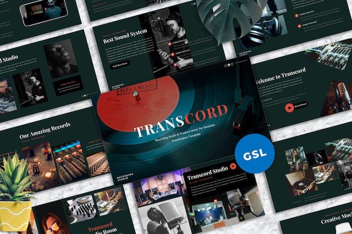 Thumbnail for Transcord - Recording Studio  Googleslide Template