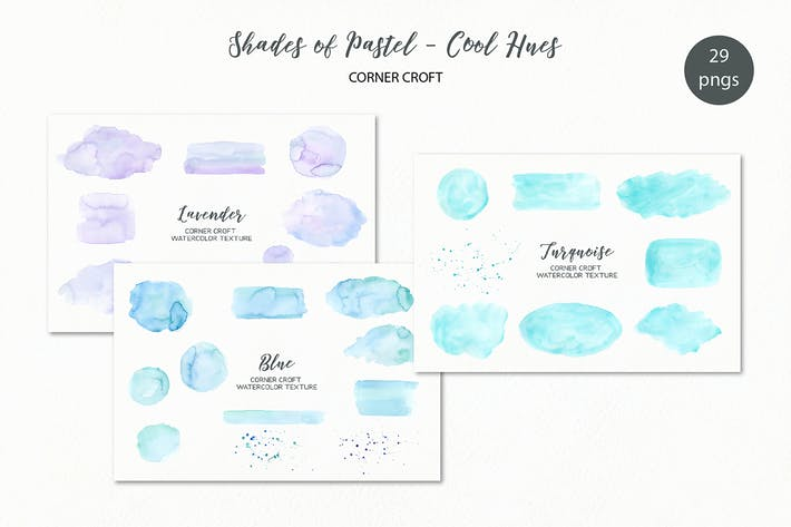 Thumbnail for Shades of Pastel Cool Watercolor Texture