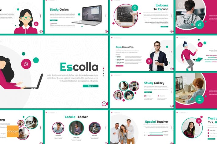 Thumbnail for Escolla - Education Google Slides Template
