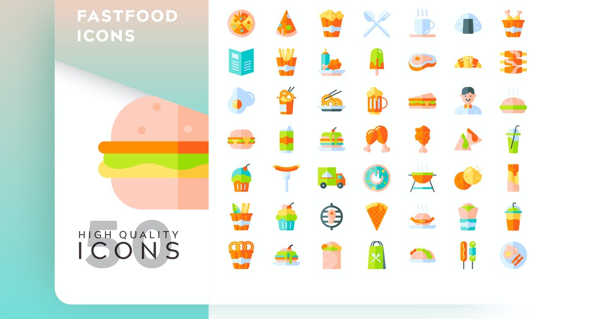 Download FASTFOOD FLAT COLOR by subqistd
