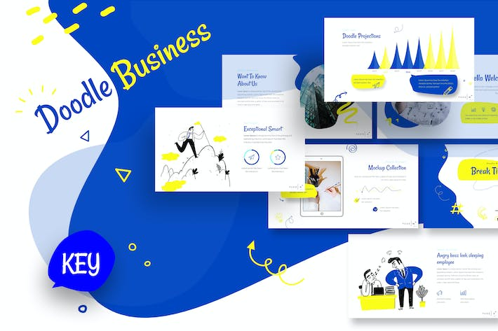 Thumbnail for Doodle Business Keynote Template