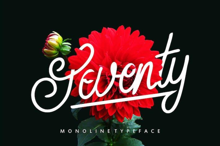 Thumbnail for Seventy | Monoline Typeface