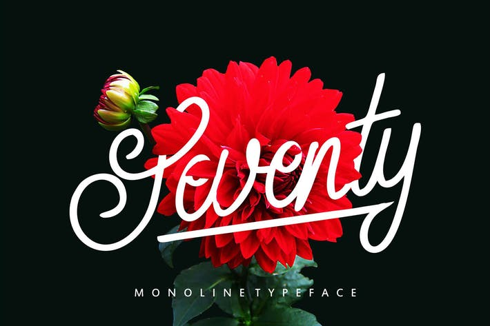 Thumbnail for Seventy | Monoline Tipo de letra