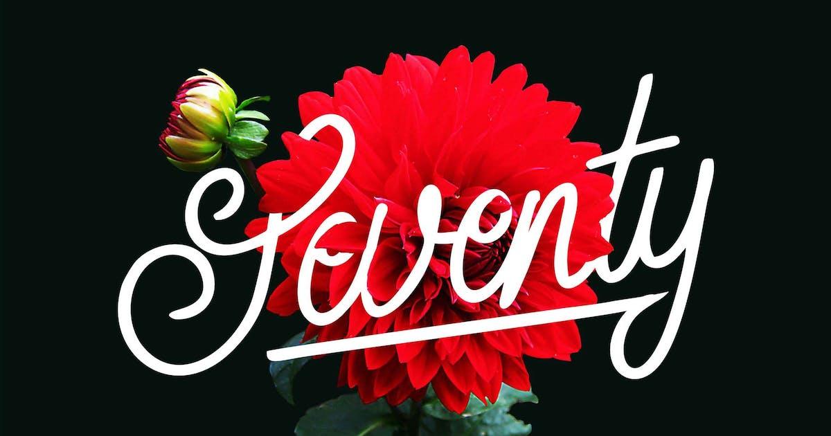 Download Seventy   Monoline Typeface by Vunira
