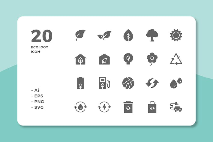 Thumbnail for 20 Ecology Icons (Solid)